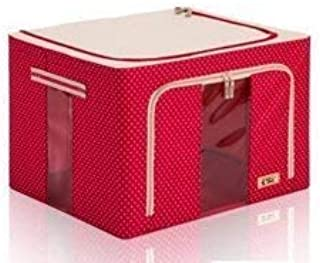 JUJO Brings Multipurpose European Style Fold-able Rectangular Shape Steel Frame Under bed Closet Organizer, Laundry Bag, e...