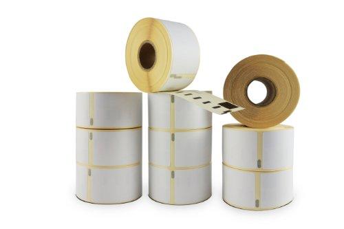 Leolabel 10er Pack Etiketten Typ 99012 S0722400 kompatibel zu Dymo LabelWriter Etikettendruckern (alte & Neue Druckermodelle). Etikettengrösse: 89 x 36 mm, 260 St. je Rolle (= 2600 Etiketten)