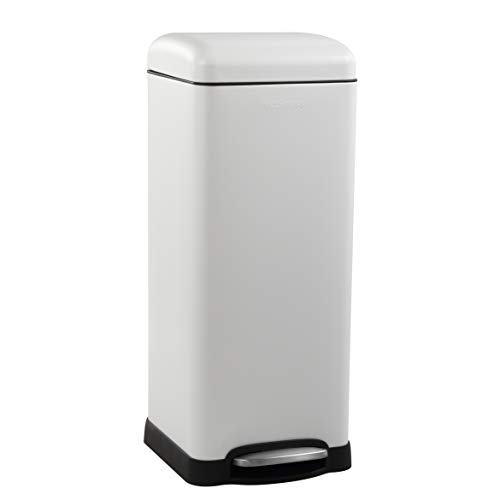 happimess HPM1007A Open Durable Steel Pedal Garbage Bin with Soft Close Step for Home, Office,...