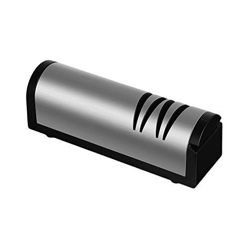 SXYB 304 Sacapuntas de Cuchillos eléctricos de Acero Inoxidable, Herramienta de Afilado multifunción, con Base Antideslizante, Duradero, Carga USB, rápido y Conveniente, para Acero Opaco