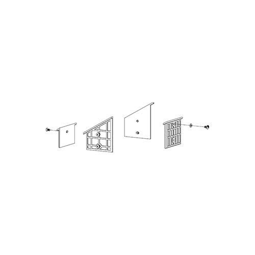 ATIKA Ersatzteil | Gleitplatten-Set (oben) für Holzspalter ASP 8 N-2