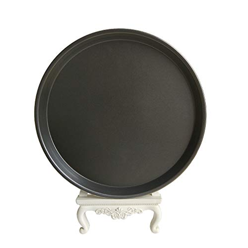 Carbon Steel Non-stick Pizza Pan Round Oven Tray Homemade Pizza Baking Sheet (12 inch)