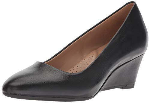 Aerosoles Women's Inner Circle Pump, black leather, 10 W US