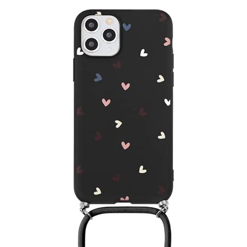 Love Heart Case para iPhone 11, Collar, cordón, Cuerda, para iPhone 12 Pro MAX 8 7 6 Plus X XR XS SE 2020, Correa, cordón, Cadena, Funda, Khes, dcaixin, para iPhone XR