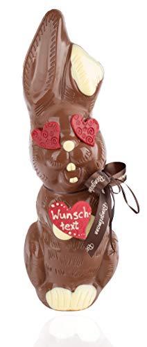 Großer Schoko Osterhase XL personalisiert 1,1kg aus Vollmilch-Schokolade - Liebe - ideal als Geschenk zu Ostern
