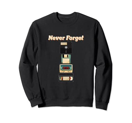 Retro 80er 90er Kassette Floppy Disk Diskette Sweatshirt