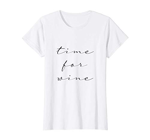 Mujer time for wine Camiseta