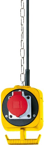 Brennenstuhl CEE Pendel Stromverteiler IP44 / Hängeverteiler für innen und außen (3x Schuko-Steckdosen, 1x CEE-Steckdose, Made in Germany)