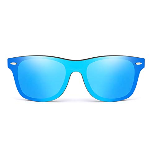 SHEANAON Gafas de Sol Hombre Mujer Cuadrado Mujer para Mujer Hombre Espejo Gafas de Sol Oversize Hecho a Mano