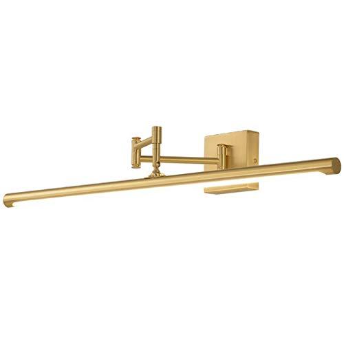 ZQH Spiegel-voorlicht, LED badkamer wandlamp modern koper make-up licht vanity licht spiegel licht licht badkamer spiegelkast lamp lamp voor make-uptafel