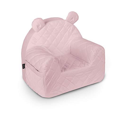 Baby Steps Kindersessel für Jungen Mädchen, Babysessel - 50x35x44 cm - Kindersitz Kindermöbel für Kinderzimmer Spielzimmer, Made in EU, Sepia Rose