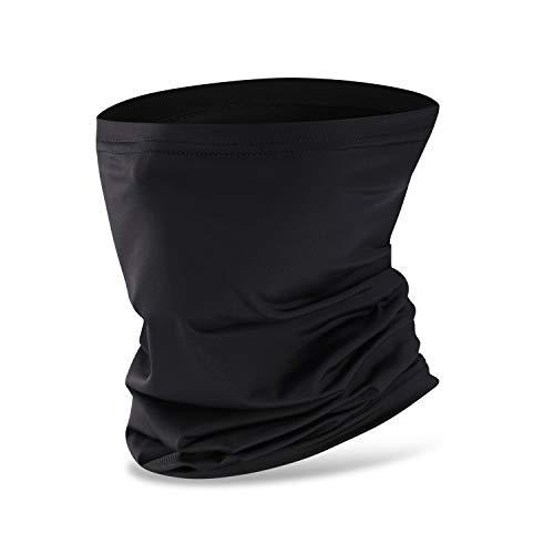 Nahtlose Bandana Face Shield Halstuch Schlauch Multifunktionstuch Schal Gesichtsmaske Balaclava, Flexibel Stirnband Kopftuch Neck Gaiter Mundschutz UVSchutz Winddicht für Motorrad Wandern (black)