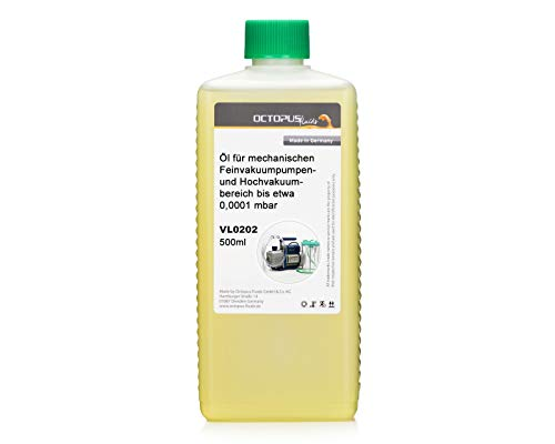 Octopus 500 ml Vakuumpumpenöl 0,5 Liter Vakuumöl Öl Vakuumpumpe Pumpenöl Kompressoröl HV100 Maschinenöl …
