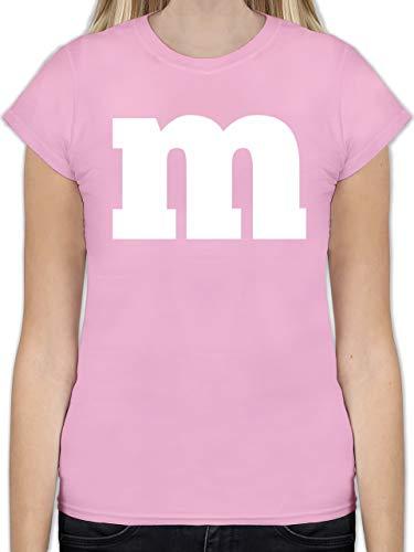 Karneval & Fasching - Gruppen-Kostüm m Aufdruck - XXL - Rosa - schokobon Tshirt - L191 - Tailliertes Tshirt für Damen und Frauen T-Shirt