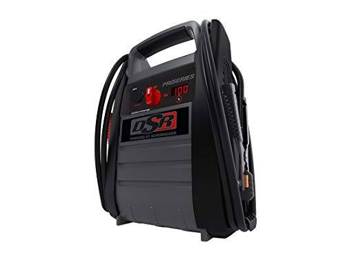 Schumacher DSR ProSeries DSR116 2250 Amp 12V Rechargeable AGM Pro Jump Starter Starts 10.0L - Gas 10.0L - Diesel vehicles 12V DC/USB Power for Charging Phones/Tablets Plus 400W Power Inverter