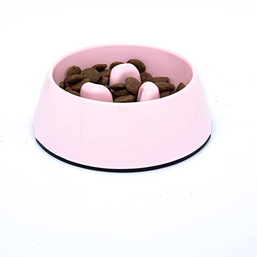DDOXX Fressnapf Antischlingnapf, rutschfest   viele Farben & Größen   für kleine & große Hunde   Futter-Napf Katze   Hunde-Napf Hund   Katzen-Napf   Melamin-Napf   Rosa Pink, 600 ml