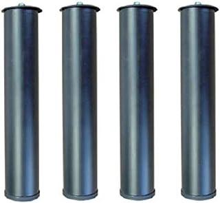 Patas metálicas Redondas para somier. Pack de 4 Unidades de 26 cms. Pro Elite