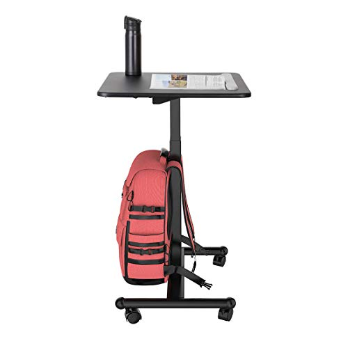 Flexispot MT3 Sit-Stand Mobile Laptop Standing Desk Rolling Computer Cart with Swivel Top Movable Wheels Height Adjustable from 29.3 Inches to 45 Inches