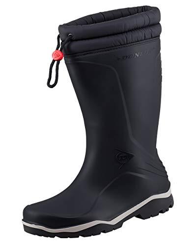 Dunlop Protective Footwear Unisex-Erwachsene Blizzard-X Kälte isolierende Gummistiefel inkluisve Hochwertigen Profilsohlenreiniger - Schwarz - Gr. 44