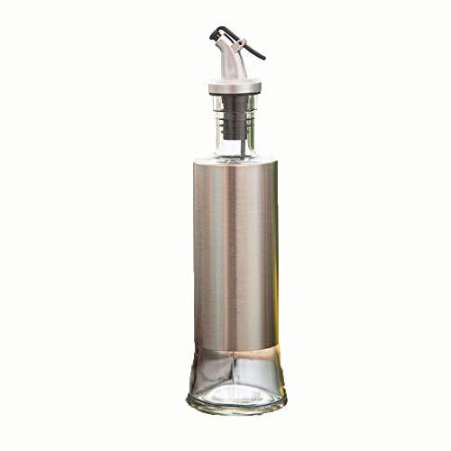 Family Needs Familie keuken roestvrij staal lekvrije fles olie pot azijn sojasaus wijnfles (Color : 04)
