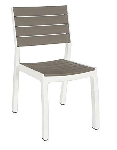 Keter Harmony Chaise de Jardin d'extérieur sans accoudoirs Beige/Taupe