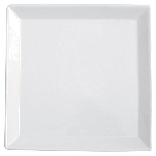 Excèlsa Plat de Service carré Blanc 36 x 36 cm.