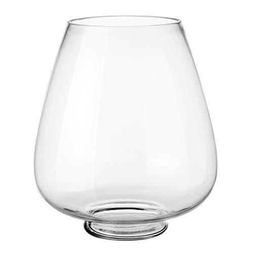 Jarrón Copa de Cristal Transparente de 28x22x22 cm - LOLAhome