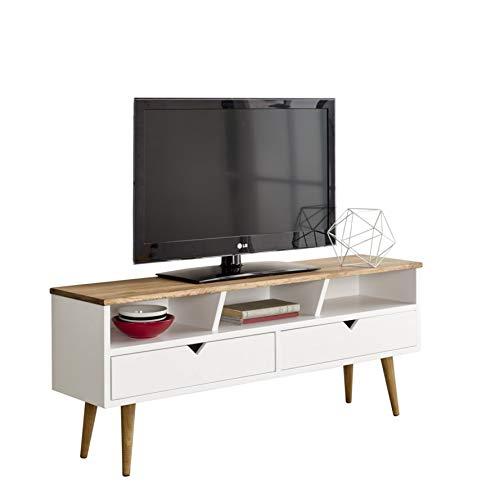 Hogar24-Mesa televisión, Mueble TV salón diseño Vintage,