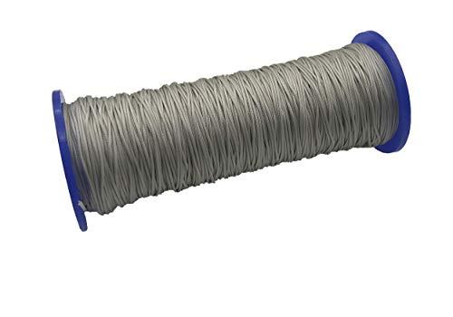 ps FASTFIX 10 Meter Schnur für Plissees 0,8 mm - hell-grau - Plisseeschnur - Spannschnur für Plissee