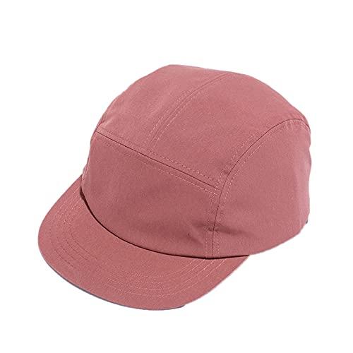 Q4S Gorra Sombrero De ala Corta para Mujer Flat Bill Algodón Sombreros De Camping En Blanco Colores Sólidos Corona Baja Ajuste Clásico Gorra De Béisbol para Hombres-F-Vino Tinto