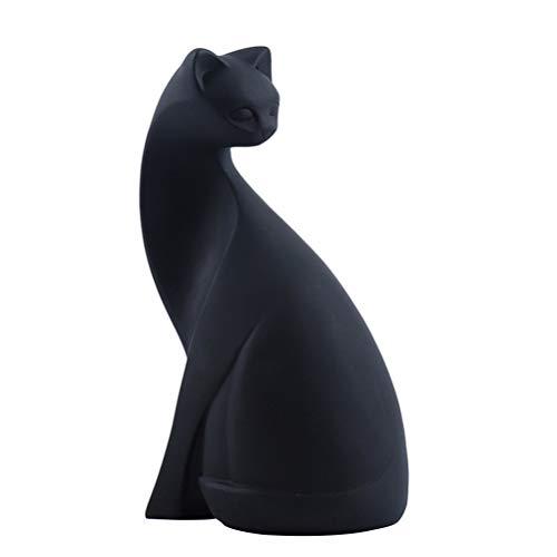 VOSAREA 1 Pc Résine Animal Chat Sculptures Statues Décoration Animale Décorative pour Vitrine De...