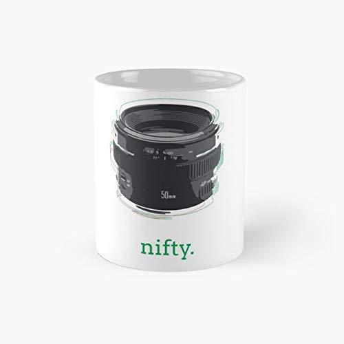 Nifty Fifty - Taza clásica con texto en inglés
