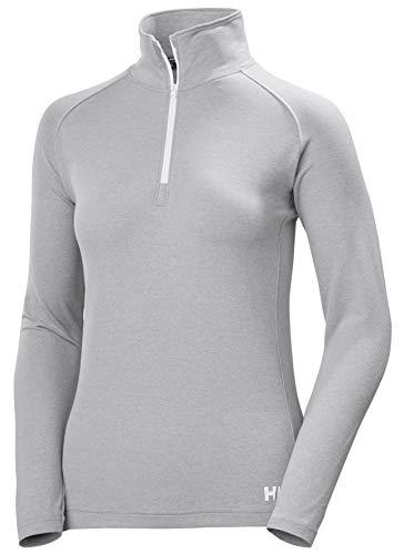 Helly Hansen W Verglas 1/2 Zip Suéter con Media Cremallera, Mujer, Grey Fog Melange, L