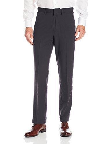 Nautica Men's 4-Way Performance Stretch Herringbone Dress Pant, Charcoal, 30 X30