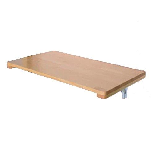 Zaixi Tableau Mural de Feuille de Baisse Table de Salle à Manger Pliante de Bois Solide Espace économiseur Fold Bureau Convertible Pliable (Taille: 60 * 40cm) Forte capacité portante