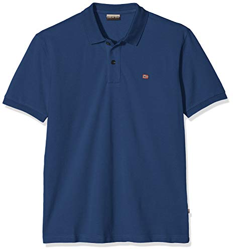 Napapijri Herren ELIOS Poloshirt, Blau (Dark Denim Bd1), Medium (Herstellergröße: M)