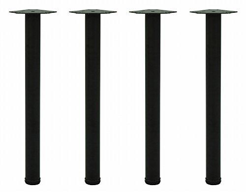 エイ・アイ・エス(AIS) テーブル脚4本セットネジ付 高さ70cm マットブラック TL-01 BK