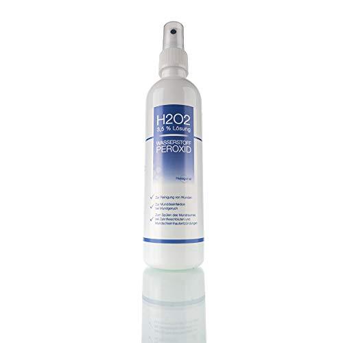 Nemkur Wasserstoffperoxid H2O2 3,5% Lösung - 250 ml auf Osmose Wasser mit praktischem Sprühaufsatz - optimal zum Desinfizieren und zur Mundhygiene - Pharmaqualität aus Deutschland