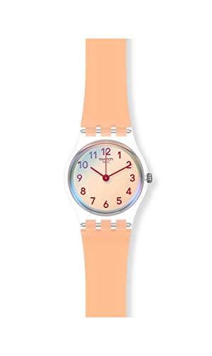 Swatch Reloj Analógico para Mujer de Cuarzo con Correa en Silicona LK395