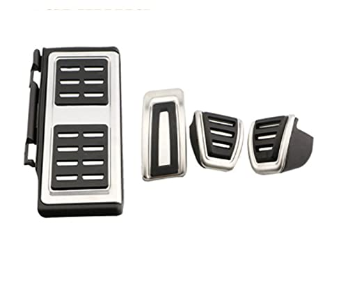 SHANGSHANG Zfuxiang STOR Pedales de Acero Inoxidable Aptos for Audi A3 8V S3 RS3 Sportback Cabrio Limousine LHD 2012-2020 Funda de Pedal Auto (Color Name : MT with Rest)