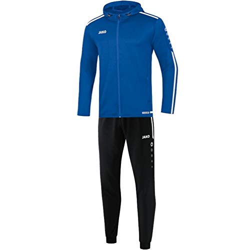 JAKO Kinder Striker 2.0 mit Kapuze Trainingsanzug Polyester, royal/Weiß, 128