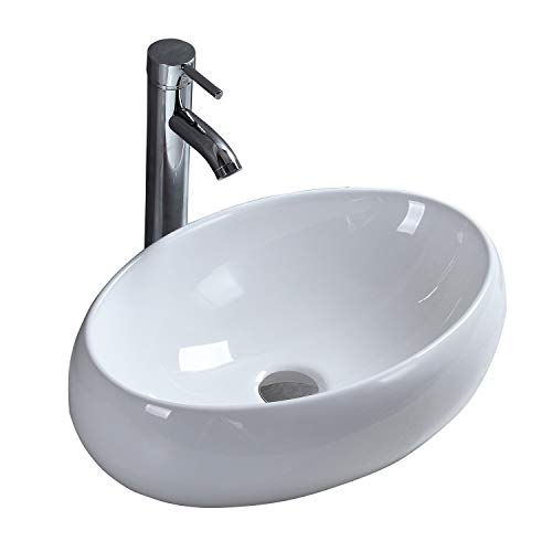 Lavabo de Cerámica Lavabo de Alta Calidad Blanco Lavabo Sobre Encimera Rectangular Diseño Moderno Para Guardarropa Baño Cocina