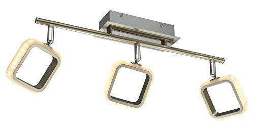 ESTO Lighting 762027-3 A+, Deckenleuchte, Nickel, 15 W, Grau/Chromfarbig, 11 x 57 x 17.5 cm