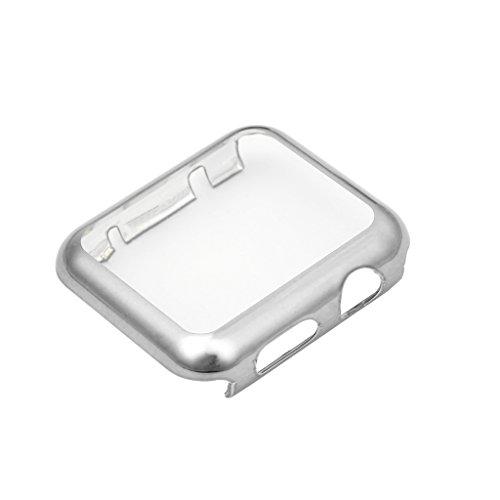 Custodia protettiva per PC a schermo intero ultra sottile per Apple Watch Series 1 2 38 / 42mmArgento (confezione originale)