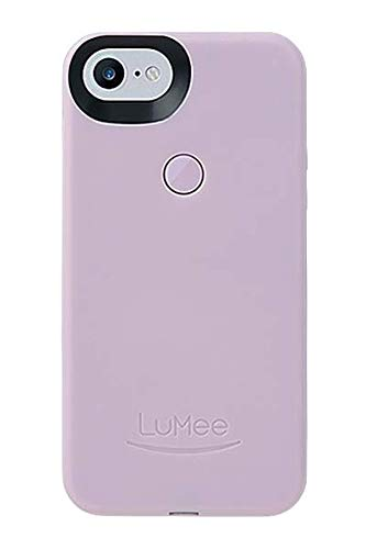 LuMee Selfie Phone Case, Lavender | LED Lighting, Variable Dimmer | Shock Absorption, Bumper Case | iPhone 8 / iPhone 7 / iPhone 6s / iPhone 6