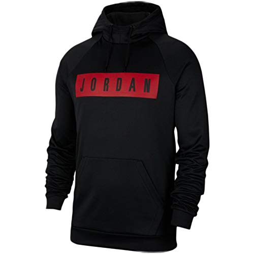 Nike Herren Sweatshirt Jordan Therma 23 Alpha XXXL schwarz/rot (Black/Gym RED/Gym RED)