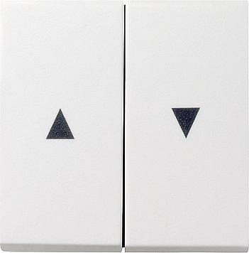 GIRA Serie Standard 55 - reinweiß glänzend (029403) Wippe Jalousie