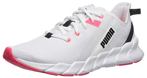 PUMA Women's Weave XT Shoe, Puma White-Pink Alert, 8 M US