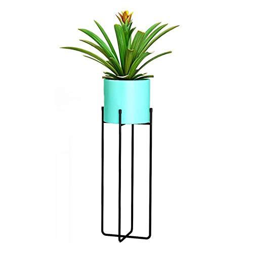 Usine en métal Stand de fleurs Rack Nordic Moderne Simple Maison Salon Balcon Atterrissage Extérieur Présentoir Bonsaï Étagère-green-C