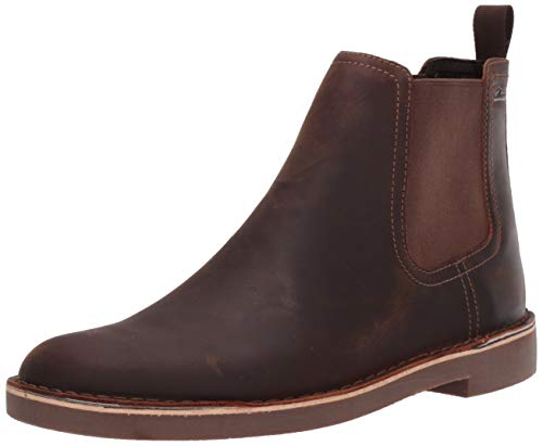 Clarks Men's Bushacre Hill Chelsea Boot, Dark Brown Leather, 130 M US